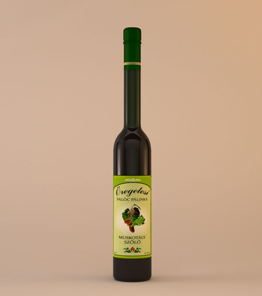 Öregetesi Muskotály szőlő pálinka
